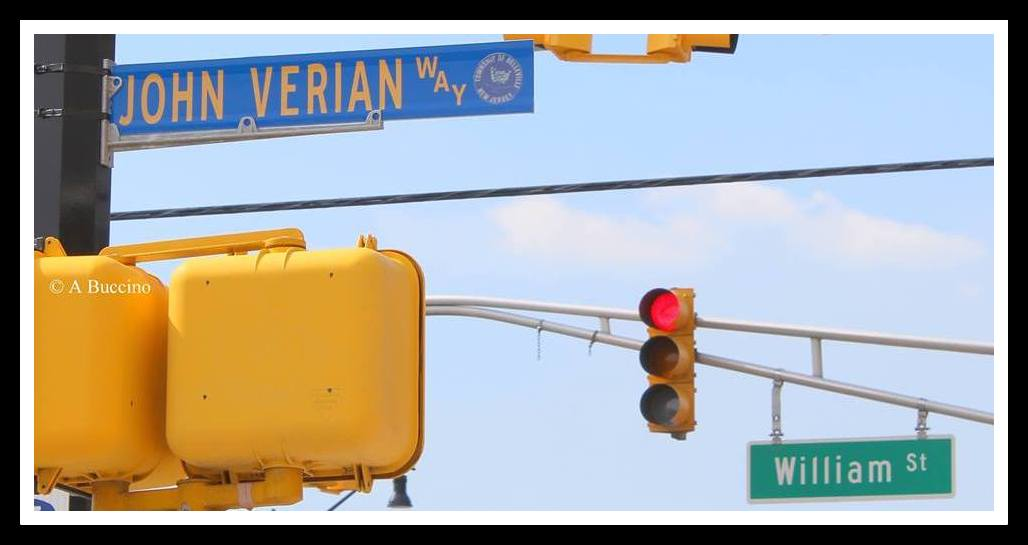 John Verian Way memorial street sign by Anthony Bucccino