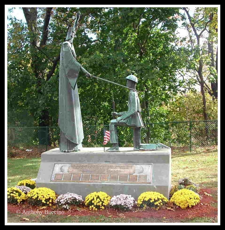 Liberty memorial by sculptor Javid Zarabi, Belleville-Veterans-Memorial, Union Ave., Belleville, NJ