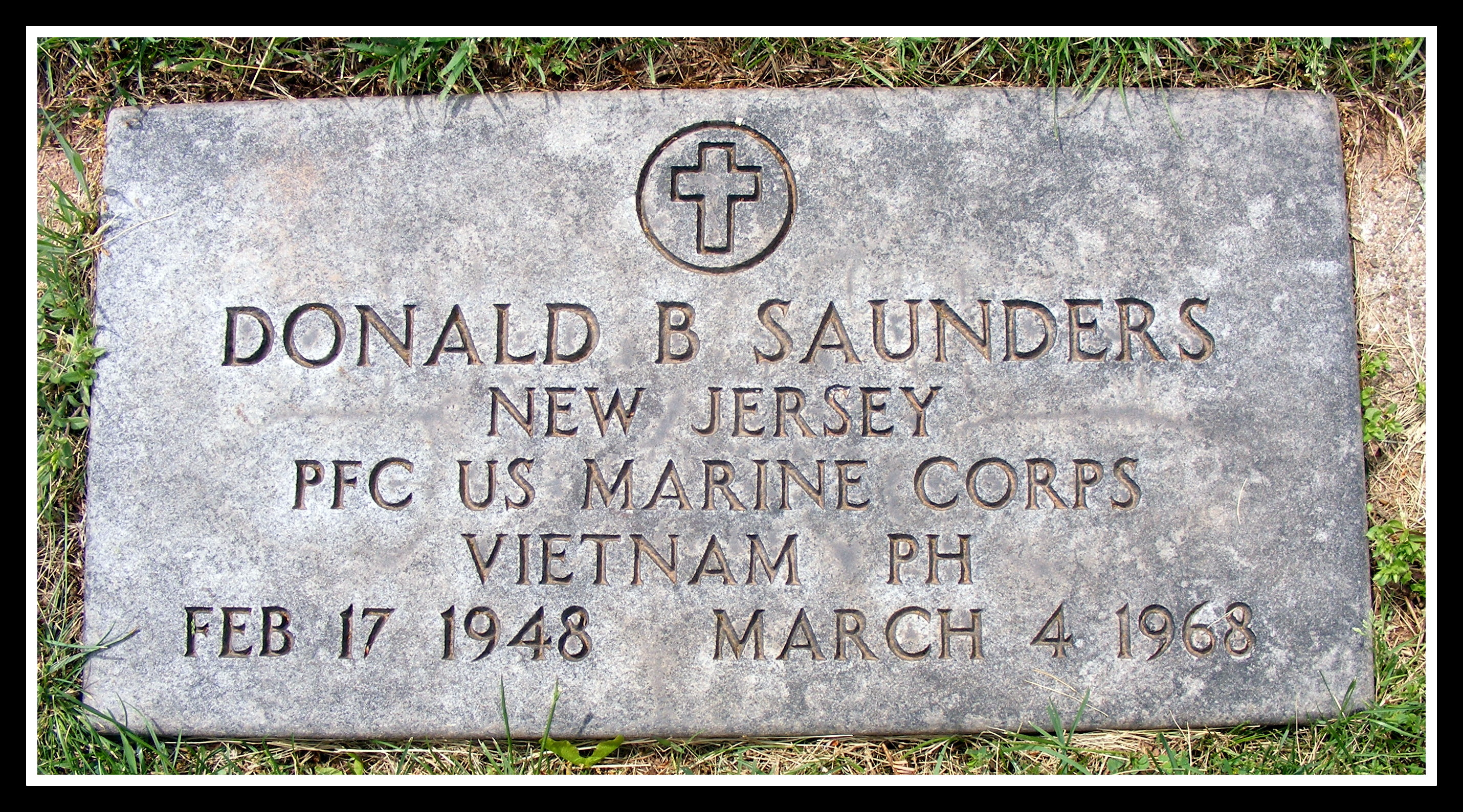 Donald B. Saunders, USMC, KIA Vietnam, photo by Anthony Buccino