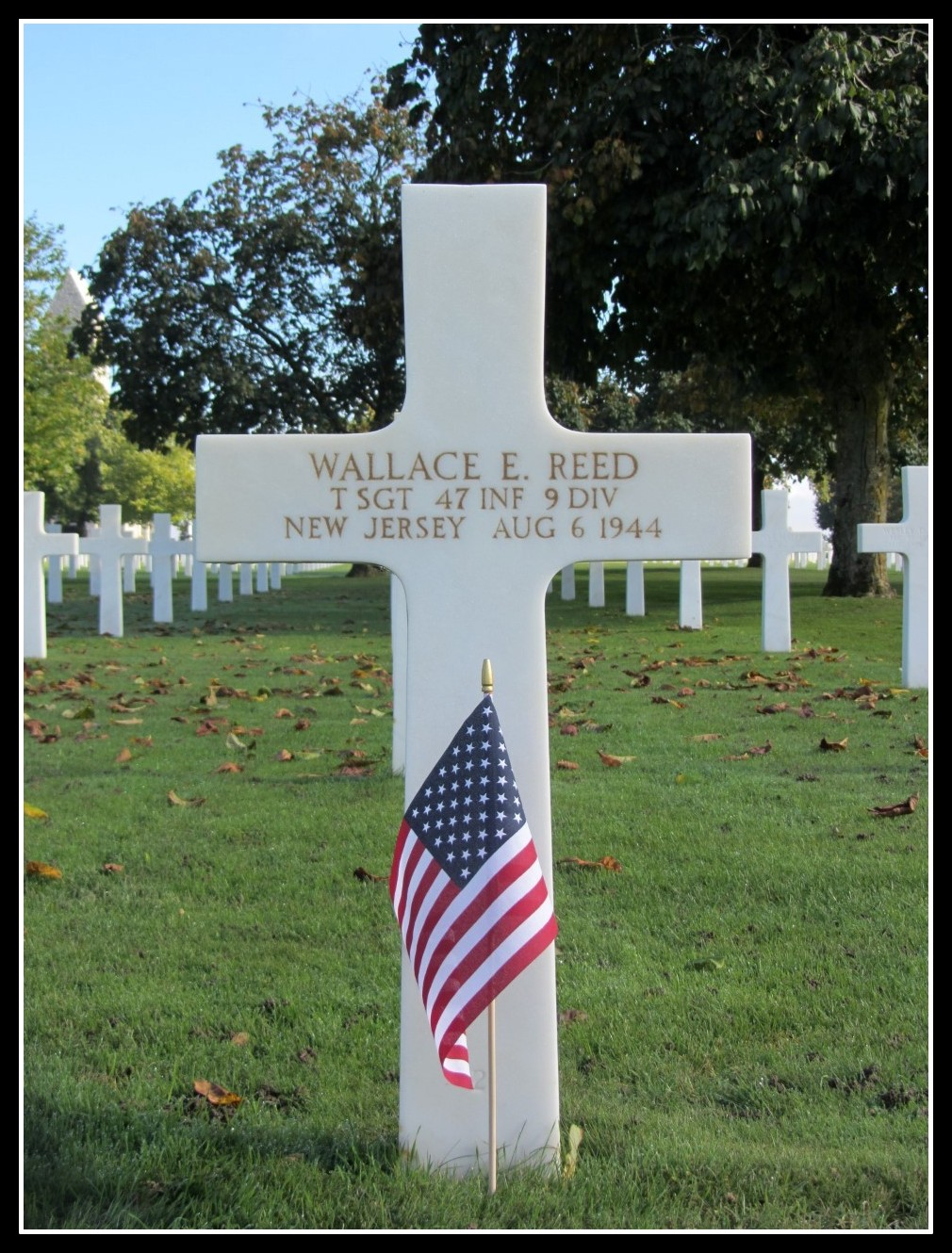T/Sgt. Wallace E. Reed of Belleville, N.J., was KIA Aug. 6, 1944