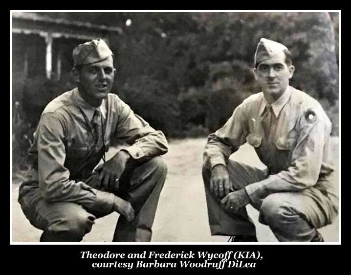 From left, Sgts. Theodore Wyckoff and Frederick Wyckoff.