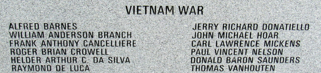 Vietnam War - Belleville-Veterans-Memorial, Union Ave., Belleville, NJ