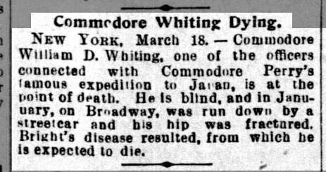 Commodore Whiting Dying