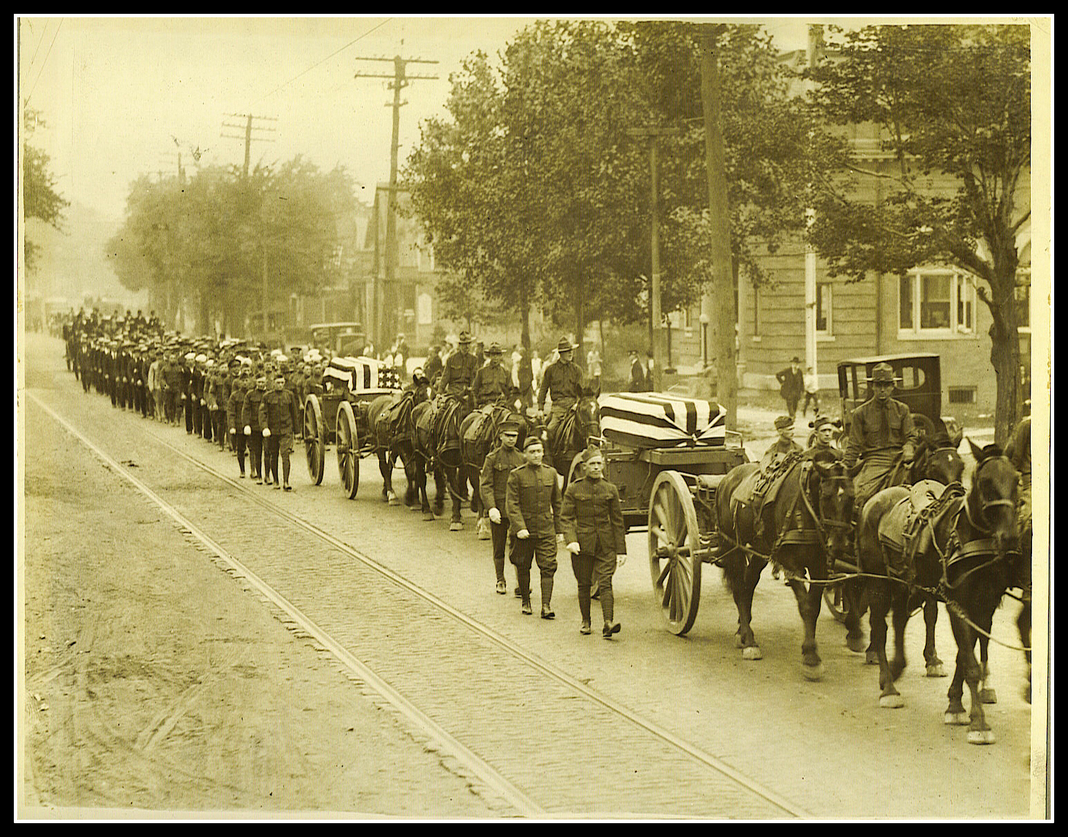 Belleville Pays Tribute To War Heroes - Michael Flynn and Edward Crowell, 1918