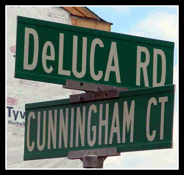 DeLuca Road in Belleville honors Raymond DeLuca.