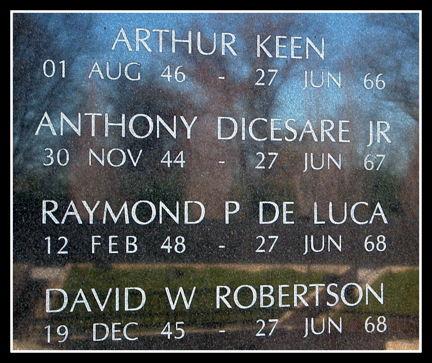 Raymond DeLuca, KIA, Vietnam. NJ Vietnam Memorial, © 2004 by Anthony Buccino
